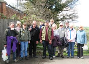 Evesham Heath walkers