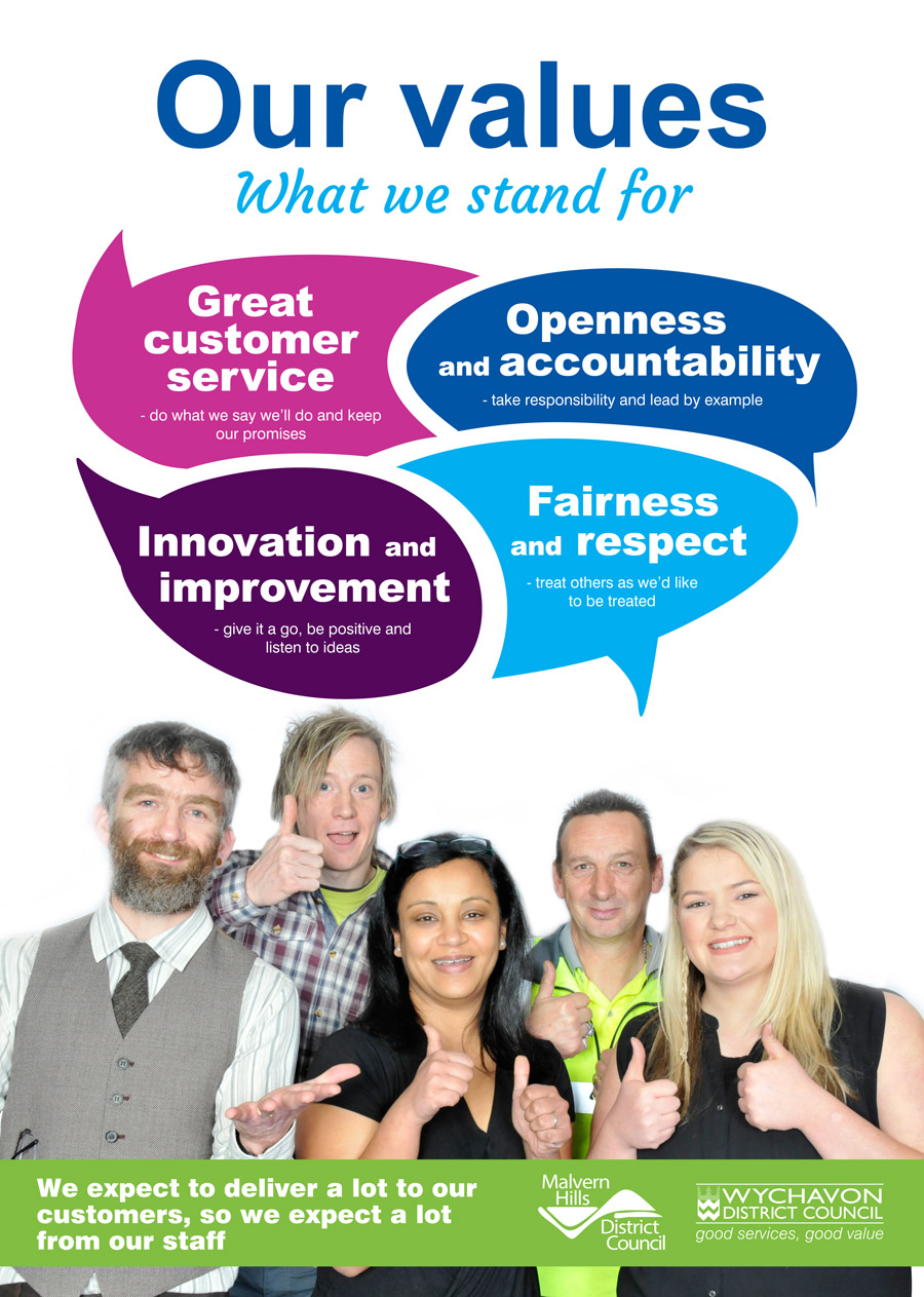 Our values poster